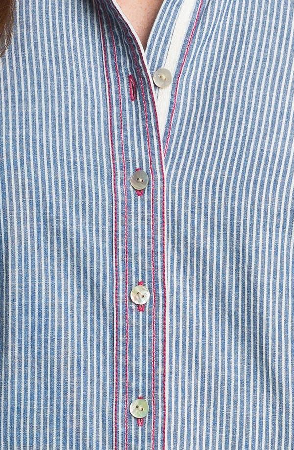 Alternate Image 3  - Shirt 469 Railroad Stripe Long Sleeve Denim Shirt