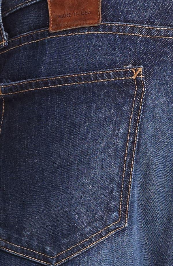 Alternate Image 4  - Billy Reid Slim Fit Jeans (Washed Blue)