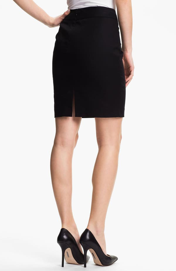 Alternate Image 2  - Vince Camuto Stretch Cotton Skirt