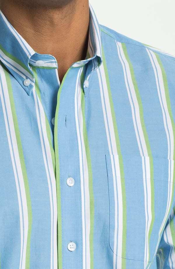 Alternate Image 3  - Cutter & Buck 'Whitmire Stripe' Regular Fit Sport Shirt (Big & Tall)