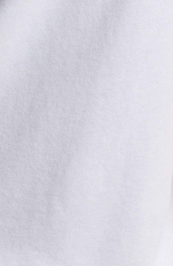 Alternate Image 3  - James Perse Tie Hem Short Sleeve Hoodie