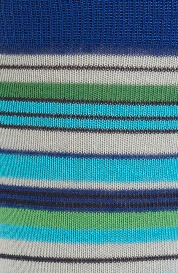 Alternate Image 2  - Lorenzo Uomo Multi Stripe Socks