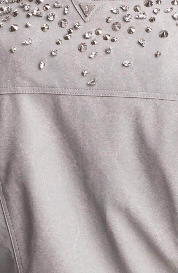 Alternate Image 3  - Sam Edelman Embellished Faux Leather Jacket (Online Only)