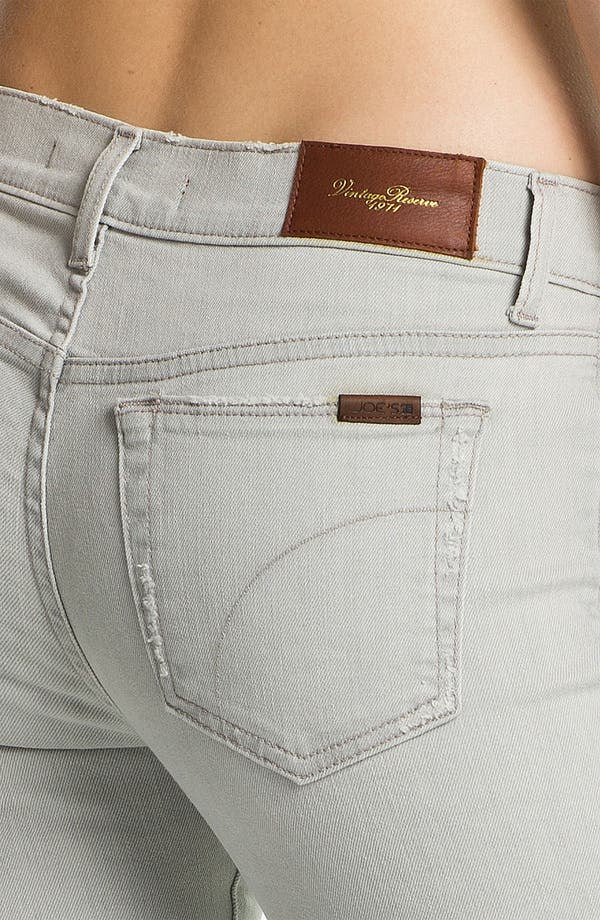 Alternate Image 3  - Joe's 'Cigarette' Straight Leg Stretch Jeans (Light Grey)