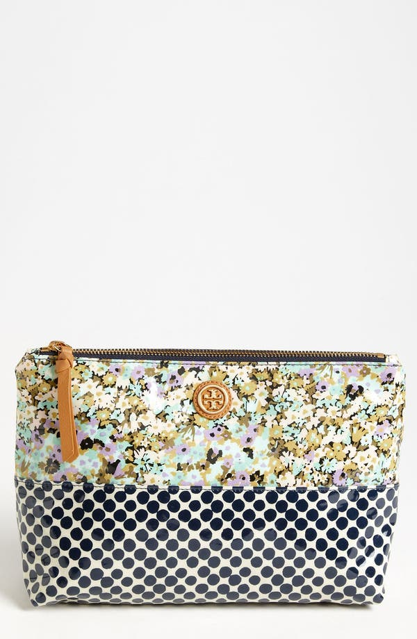 Main Image - Tory Burch 'Large' Slouchy Cosmetics Case