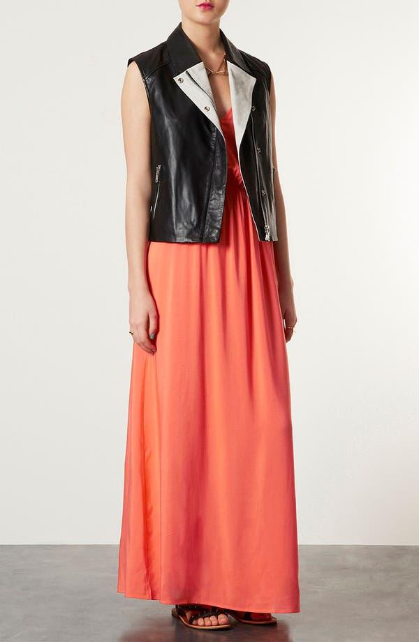 Main Image - Topshop Crochet Panel Maxi Dress