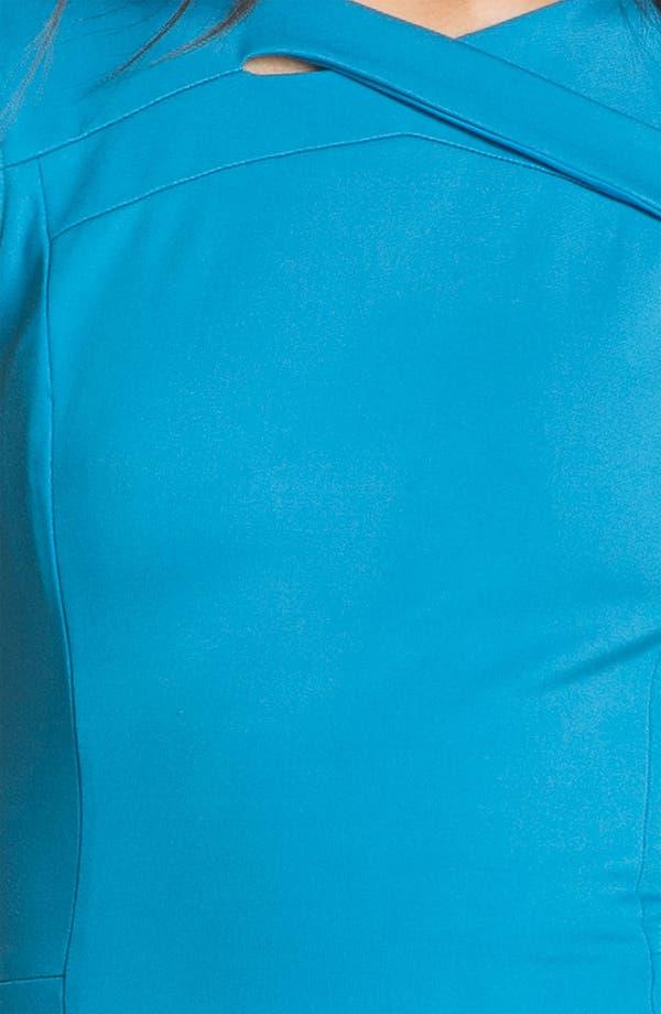 Alternate Image 3  - Halston Heritage Crisscross Neck Ponte Knit Dress