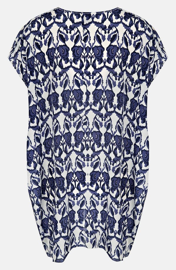 Alternate Image 2  - Topshop Floral Print Silk Tunic