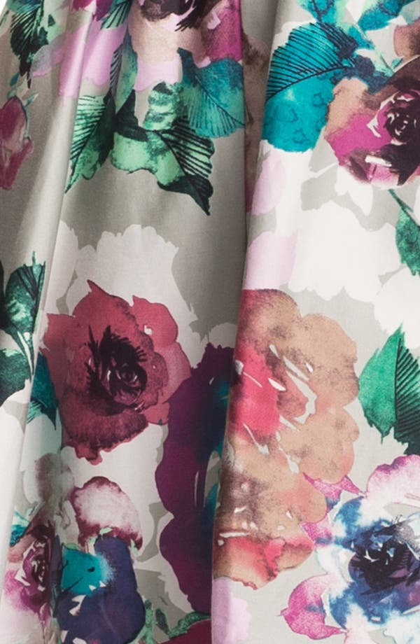 'Day Dream' Print Fit & Flare Dress,                             Alternate thumbnail 3, color,                             Abstract Flower Print