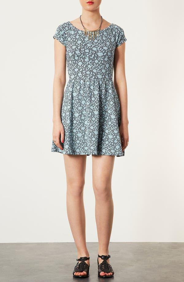 Main Image - Topshop Floral Jacquard Dress