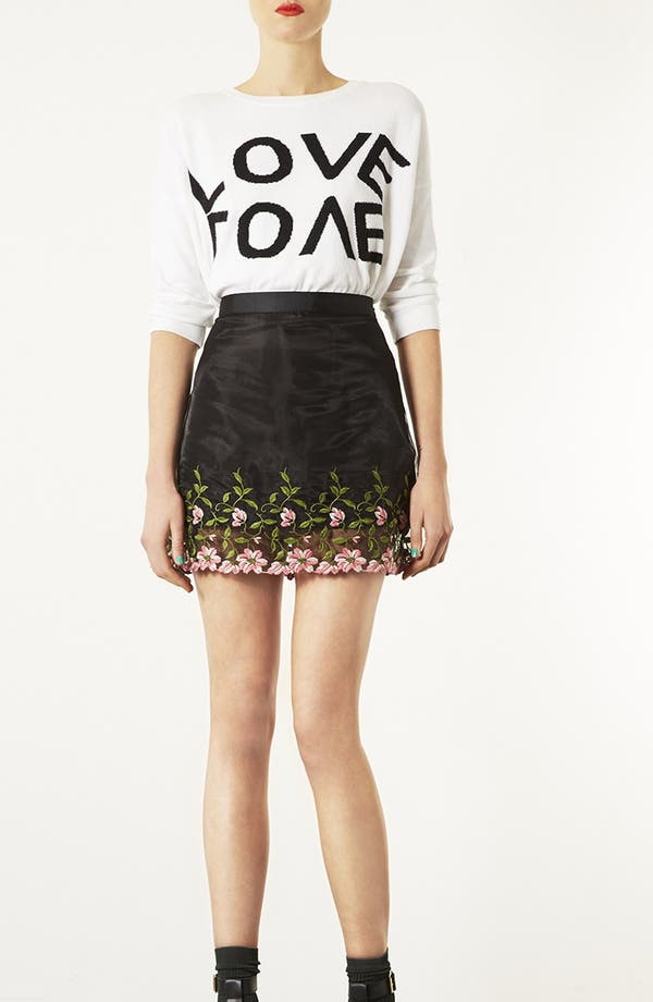 Alternate Image 5  - Topshop Embroidered Organza A-Line Miniskirt