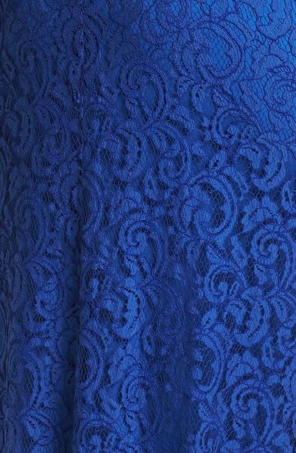 Alternate Image 3  - Tadashi Shoji Grosgrain Trim Lace Gown (Plus Size)