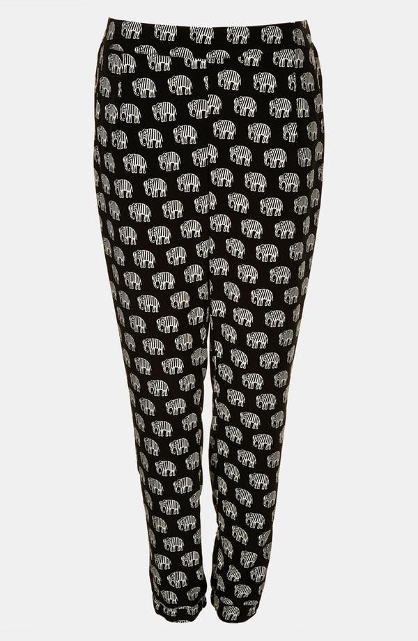 Alternate Image 3  - Topshop Elephant Print Pants