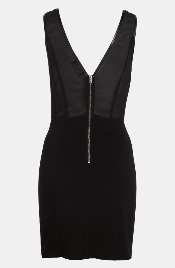 Alternate Image 2  - ASTR Zip Trim Body-Con Dress