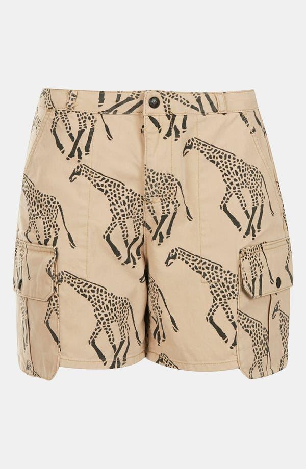 Alternate Image 3  - Topshop Giraffe Print Cargo Shorts