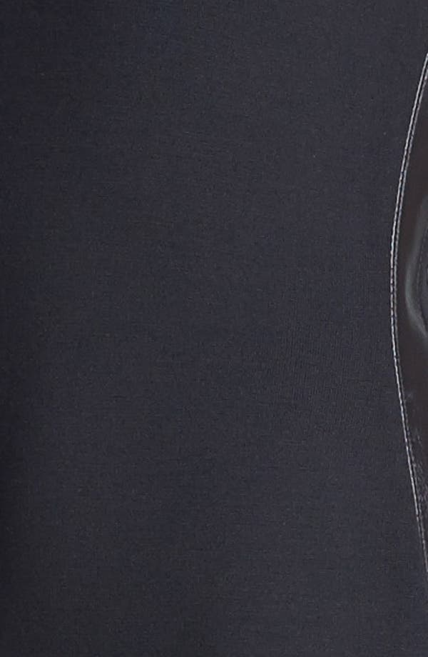 Alternate Image 3  - St. John Collection Leather Trim Milano Knit Dress