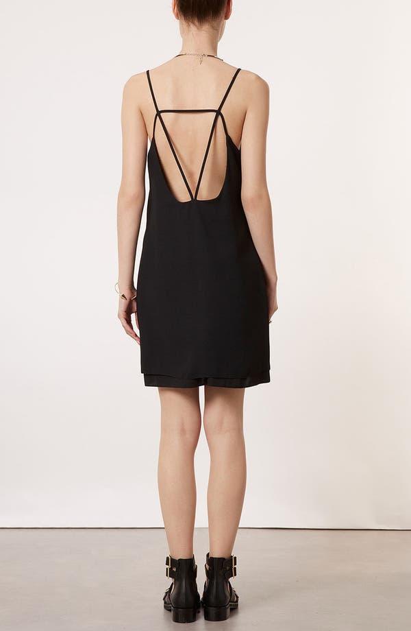 Alternate Image 2  - Topshop Strap Back Crepe Dress
