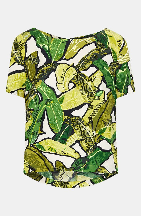 Alternate Image 3  - Topshop Banana Leaf Print Top