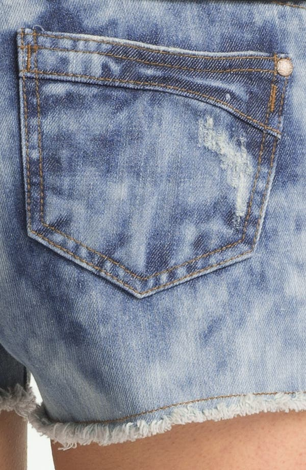 Alternate Image 3  - STS Blue 'Americana' Destroyed Denim Cutoffs (Medium Wash) (Juniors)