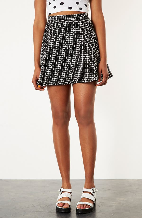 Main Image - Topshop Cross Stitch Print Skirt