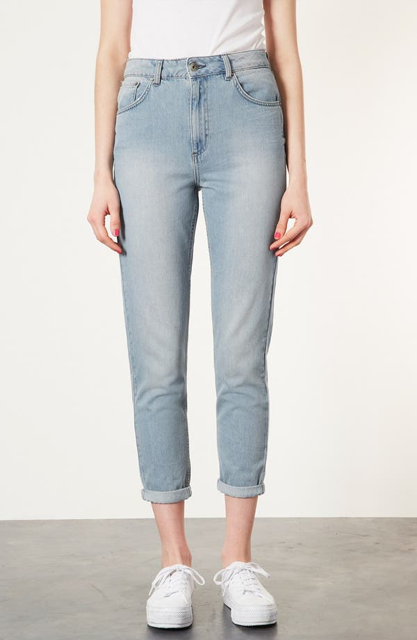 Alternate Image 1 Selected - Topshop Moto 'Kiri' Acid Wash Jeans