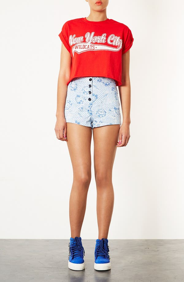 Alternate Image 4  - Topshop Checkerboard Shorts