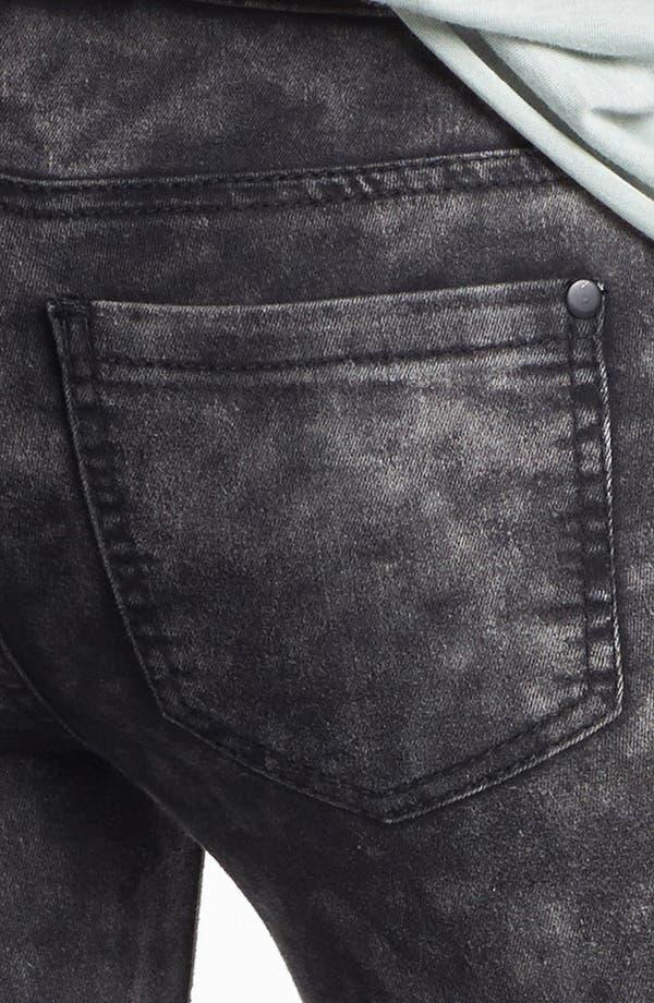 Alternate Image 3  - Fire Marble Wash Skinny Jeans (Dark Grey) (Juniors)