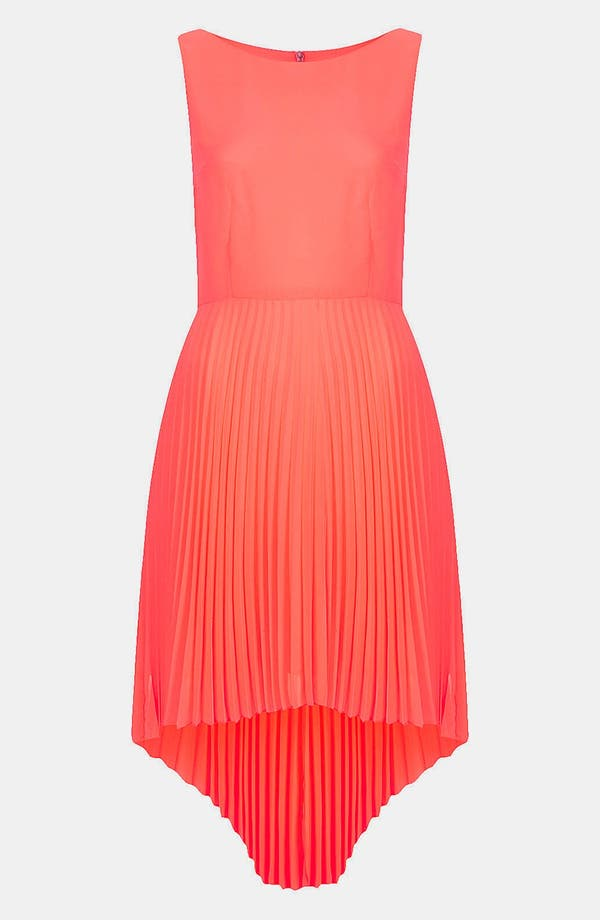 Alternate Image 3  - Topshop Pleated High/Low Dress