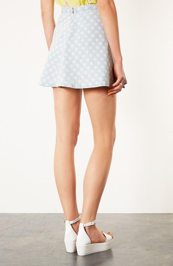 Alternate Image 2  - Topshop Moto Spotted Denim Skirt