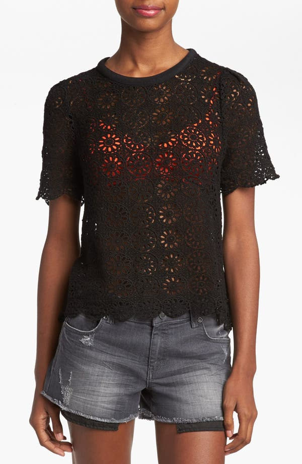 Alternate Image 1 Selected - ASTR Lace Tee
