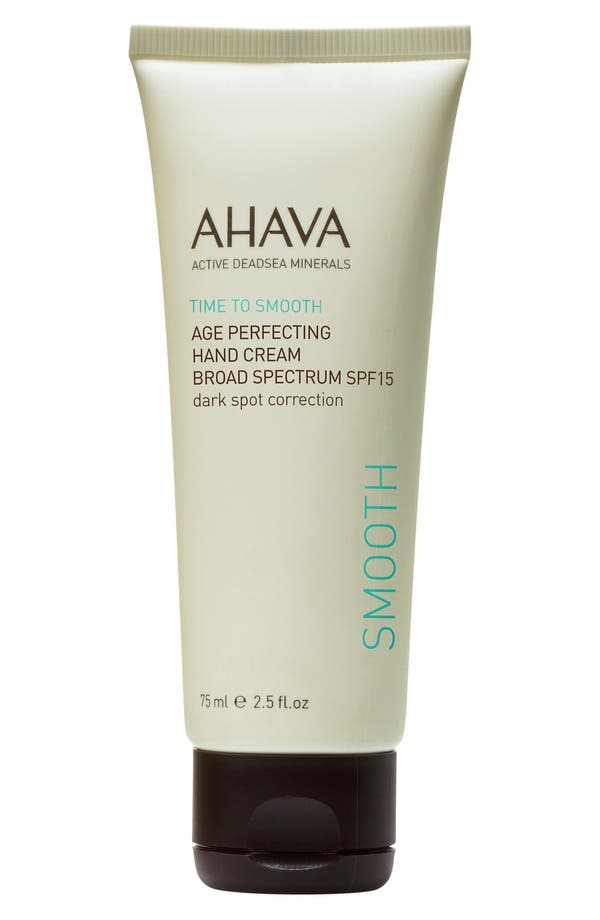 Alternate Image 1 Selected - AHAVA 'Time to Smooth' Age Perfecting Hand Cream Broad Spectrum SPF 15