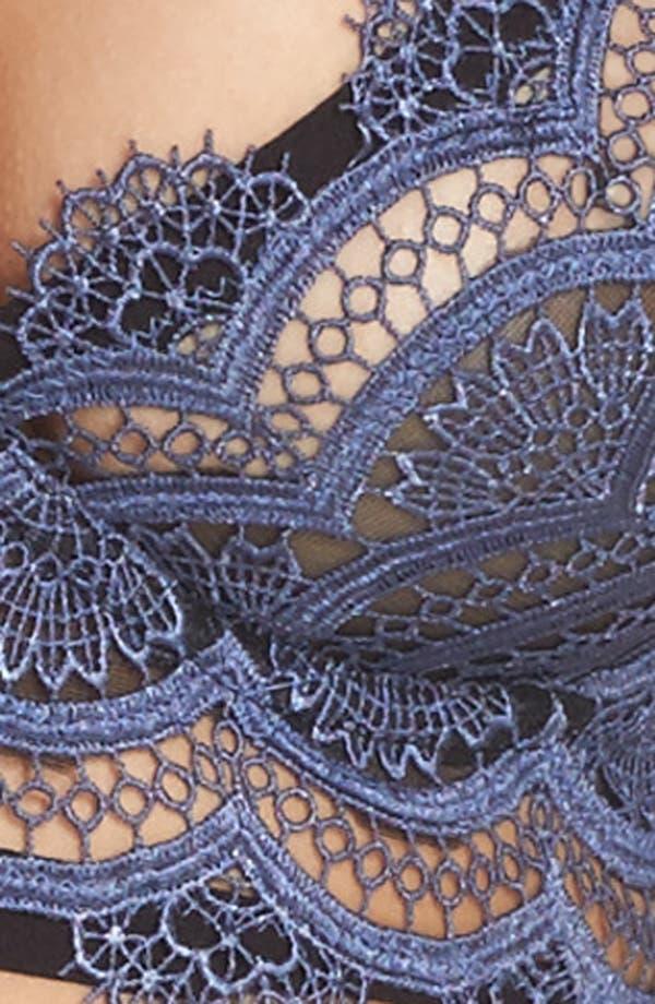 Thistle & Spire Halsey Crochet Longline Bra,                             Alternate thumbnail 8, color,                             Indigo/ Black