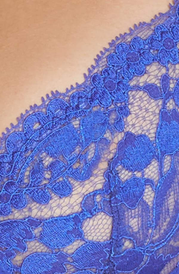 Underwire Lace Plunge Bra,                             Alternate thumbnail 5, color,                             Blue