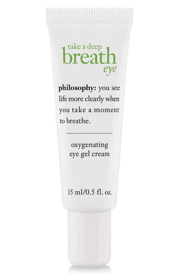 'take a deep breath' oxygenating eye gel cream,                             Main thumbnail 1, color,                             No Color