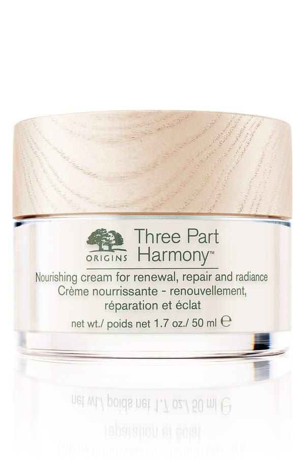 Alternate Image 1 Selected - Origins Three-Part Harmony™ Nourishing Cream for Renewal, Repair & Radiance