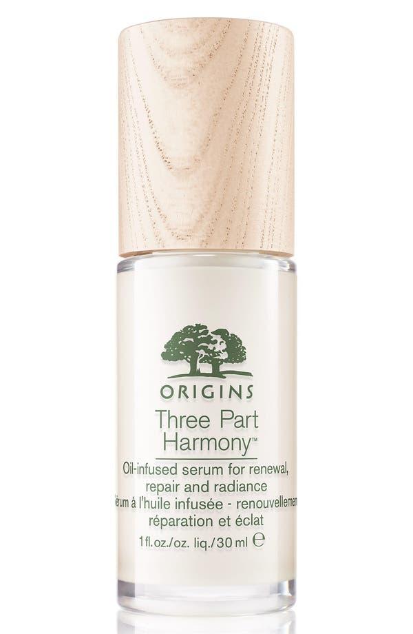 Main Image - Origins Three Part Harmony™ Oil-Infused Serum for Renewal, Repair & Radiance