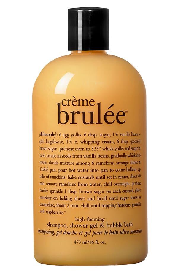 Alternate Image 1 Selected - philosophy 'crème brulée' high-foaming shampoo, shower gel & bubble bath