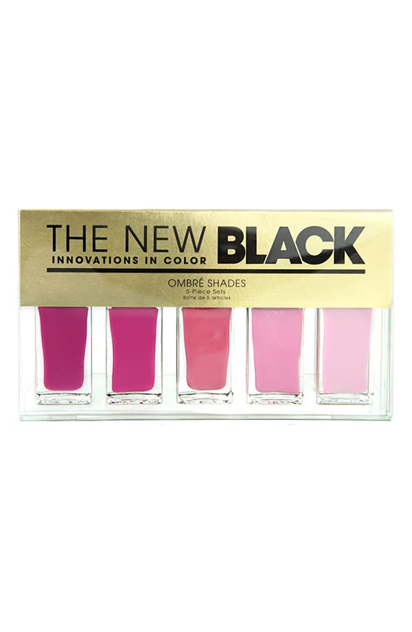 Alternate Image 2  - THE NEW BLACK 'Floyd - Ombré' Nail Polish 5-Piece Set