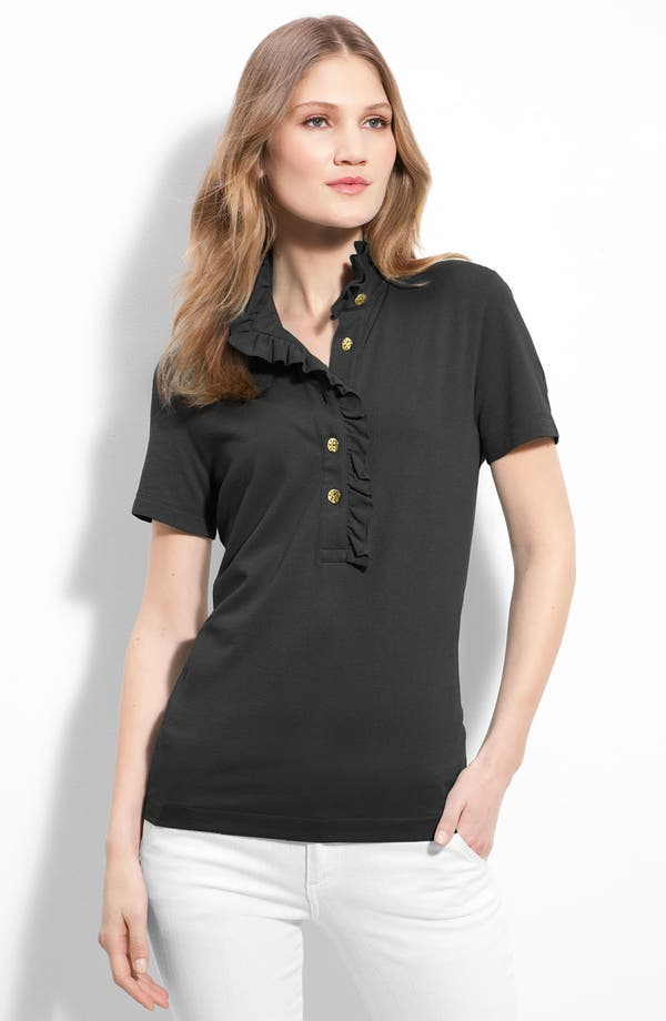 Alternate Image 1 Selected - Tory Burch 'Lidia' Short Sleeve Polo