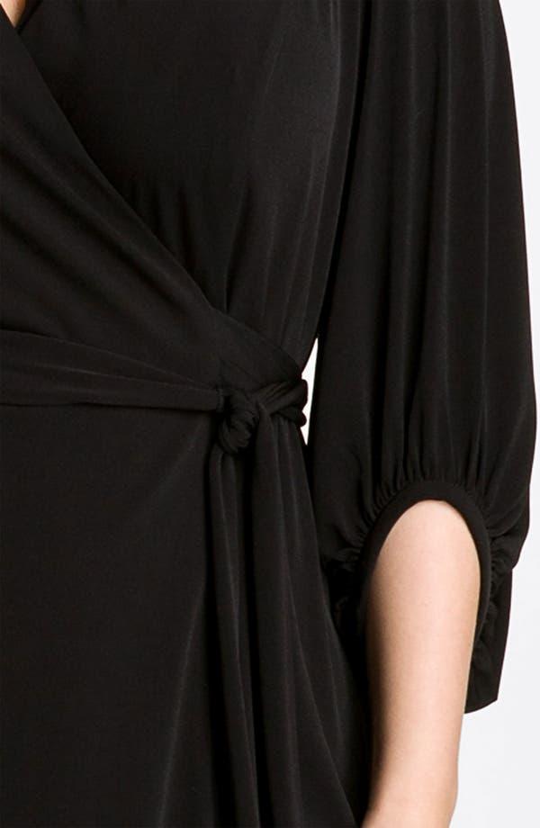 Alternate Image 3  - Donna Ricco Faux Wrap Jersey Dress (Plus Size)