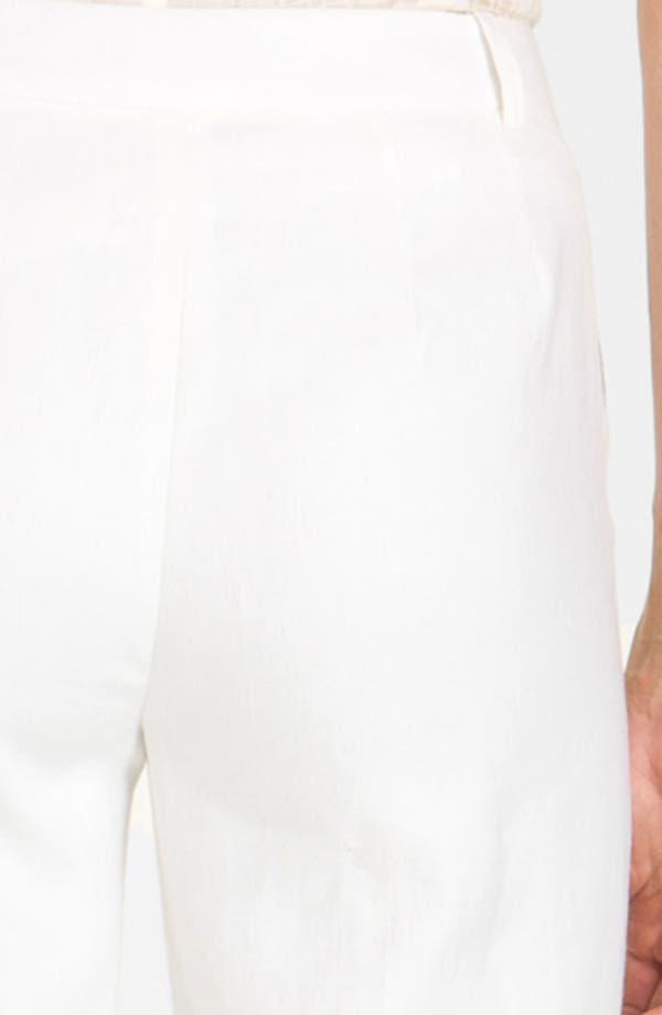 Alternate Image 3  - Lafayette 148 New York 'Lavish' Cuff Linen Pants