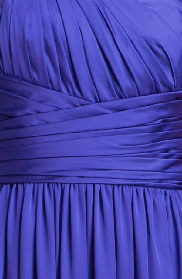 Alternate Image 3  - ML Monique Lhuillier Bridesmaids One Shoulder Charmeuse Gown (Nordstrom Exclusive)