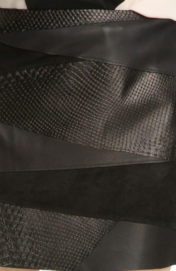 Alternate Image 3  - Haute Hippie Leather Miniskirt