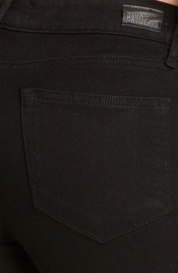 Alternate Image 3  - Paige Denim 'Verdugo' Ankle Zip Skinny Stretch Jeans (Black Ink)