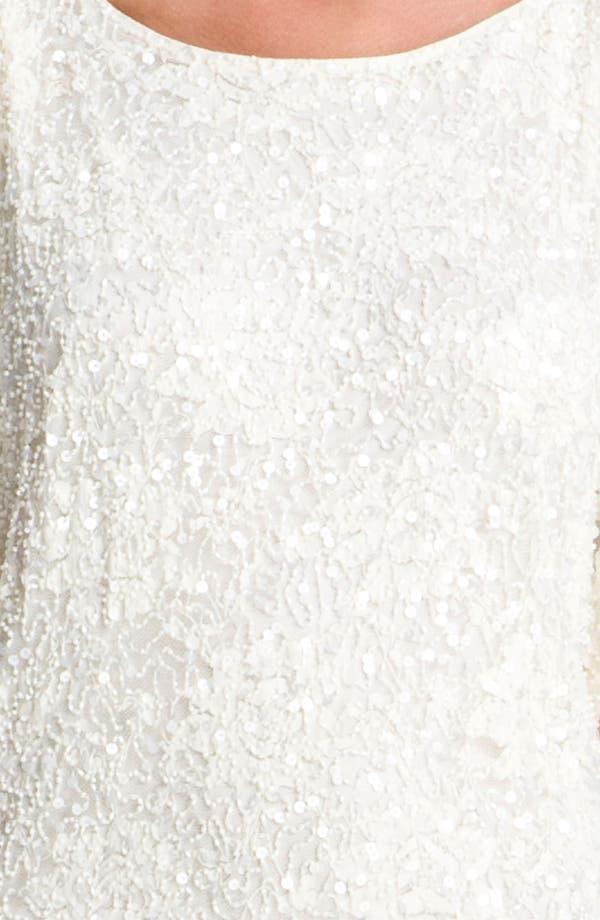Alternate Image 3  - Aidan Mattox Embellished Split Sleeve Lace Shift Dress
