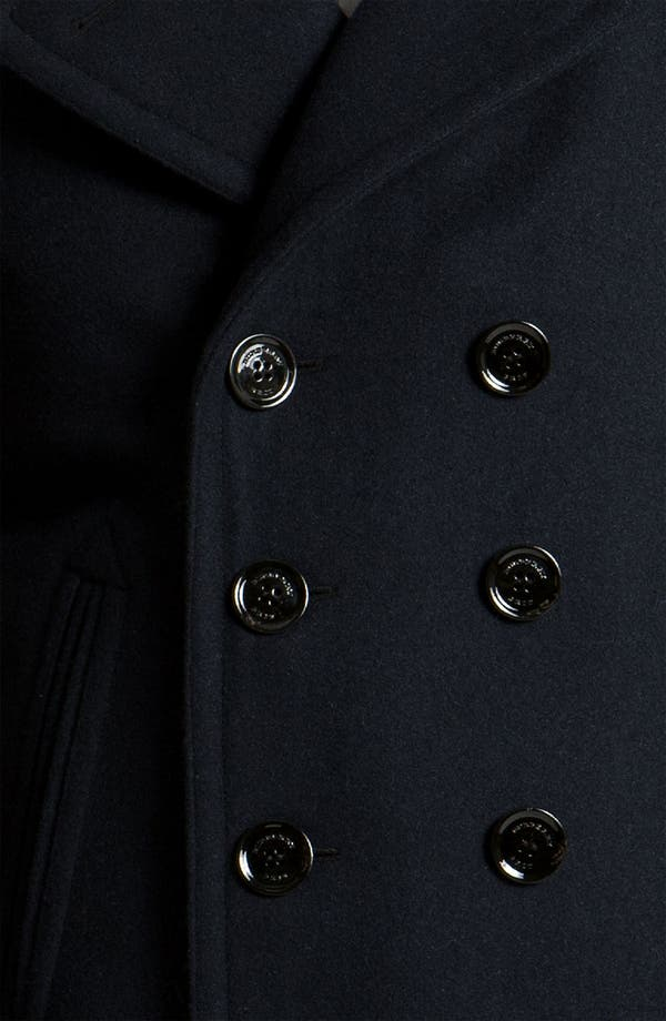 Alternate Image 3  - Burberry Brit Double Breasted Wool Blend Coat