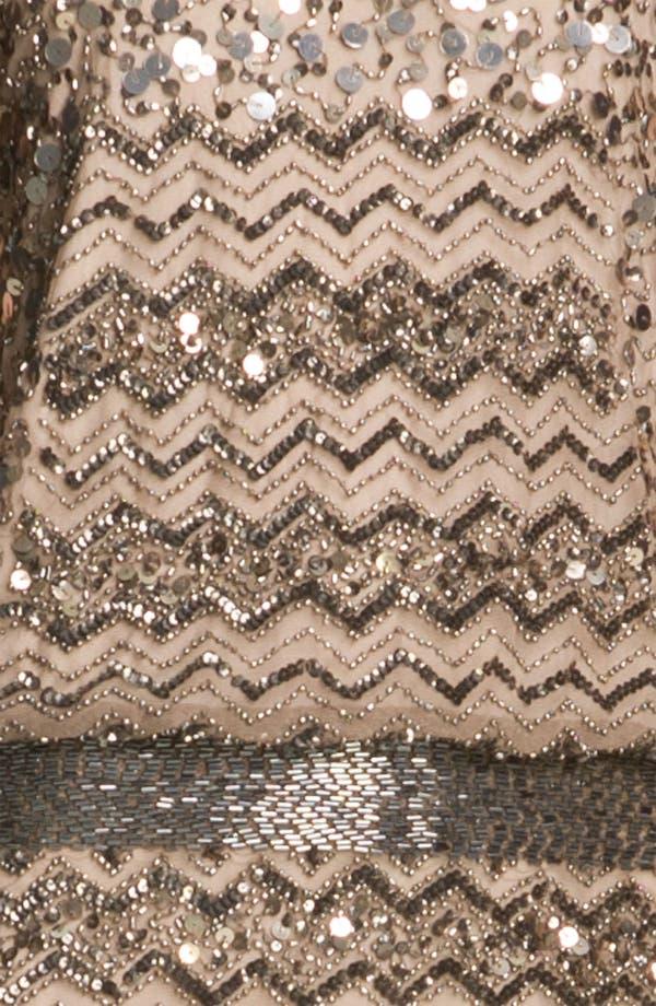 Alternate Image 3  - Adrianna Papell Embellished Zigzag Mesh Dress