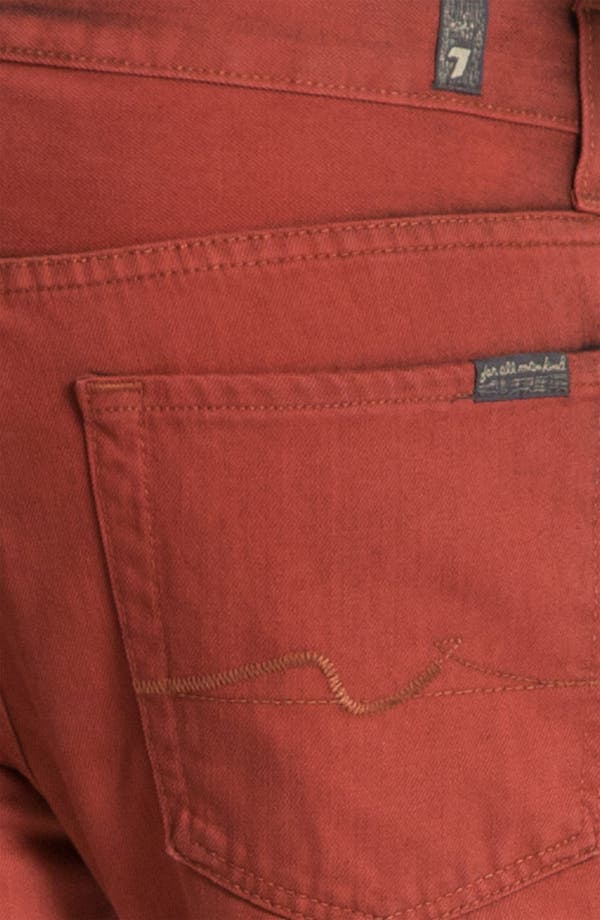 Alternate Image 4  - 7 For All Mankind® 'Slimmy' Slim Straight Leg Jeans (Spicy Red)