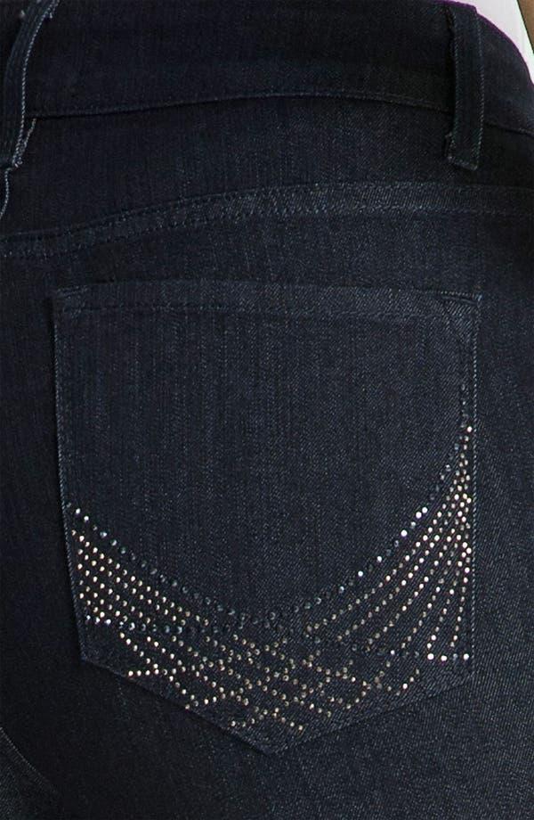 Alternate Image 3  - NYDJ Embellished Bootcut Jeans (Petite)