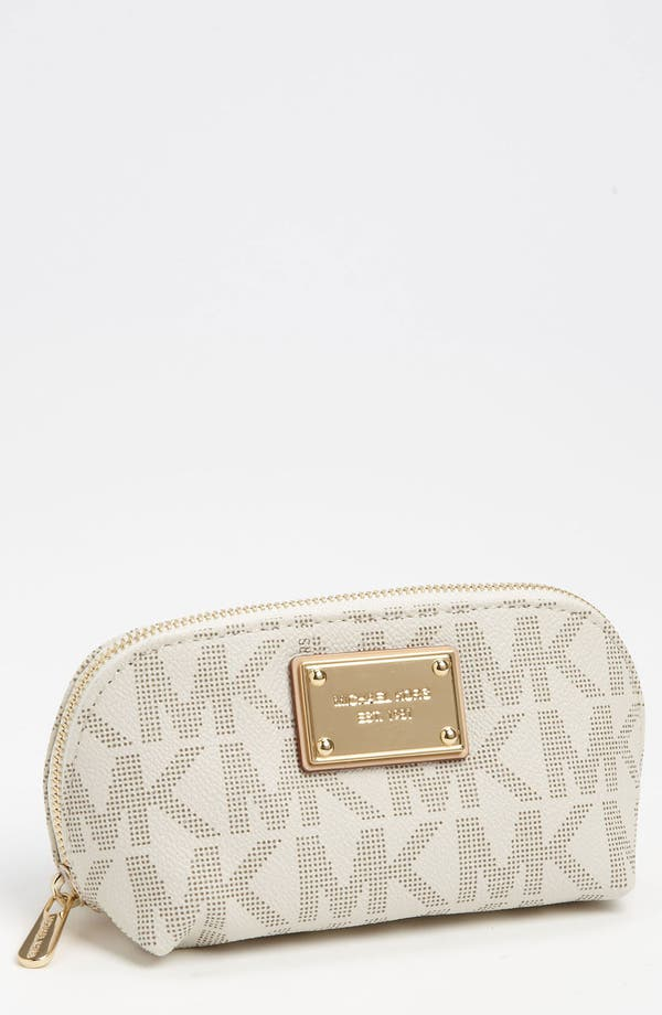 Alternate Image 1 Selected - MICHAEL Michael Kors 'Jet Set Signature - Medium' Cosmetics Case